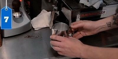 Tap the pitcher on the counter