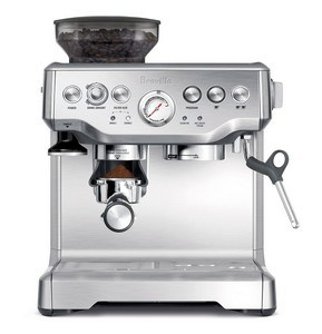 Breville BES870XL. A semi automatic espresso machine with grinder