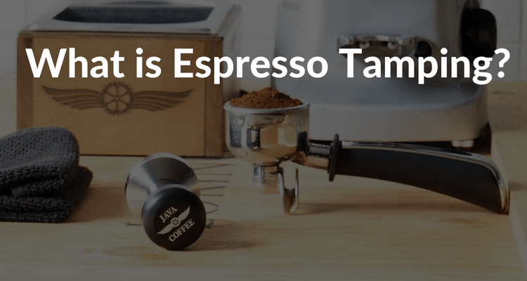 What is espresso tamping?