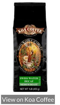Swiss Water Decaf Kona Coffee From Koa Coffee