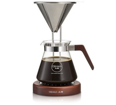 Osaka Pour Over Coffee Dripper (with wood stand)
