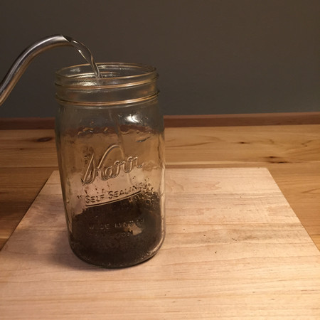 Faux French Press: Pouring Water