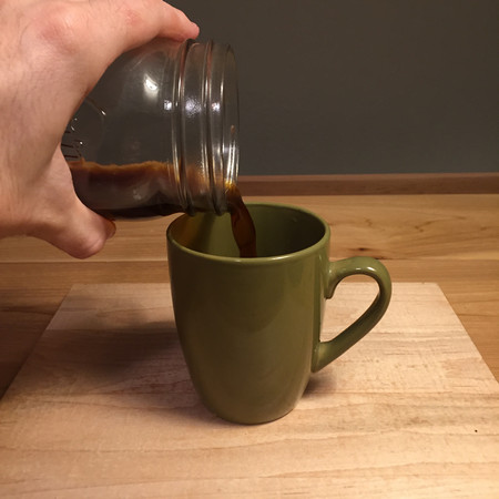 Improvised Pour Over: Serving