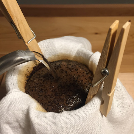 Improvised Pour Over: Pouring Water