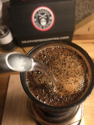 Death Wish Coffee on an Aeropress