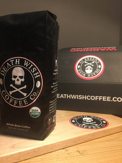 Death Wish Coffee Bag and Box