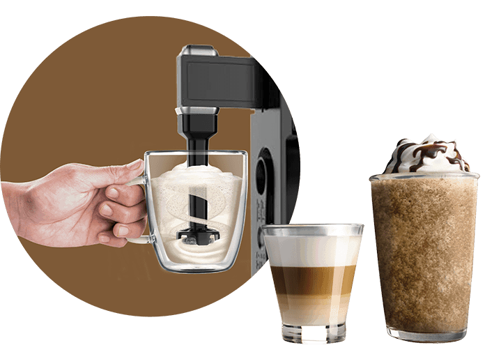Ninja Bar System Built in milk frother for cappuccinos and lattes