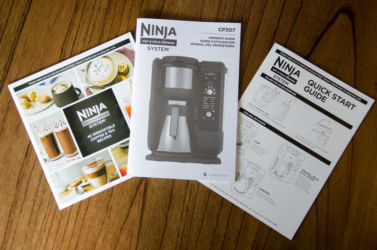 Ninja Manual and recipe book