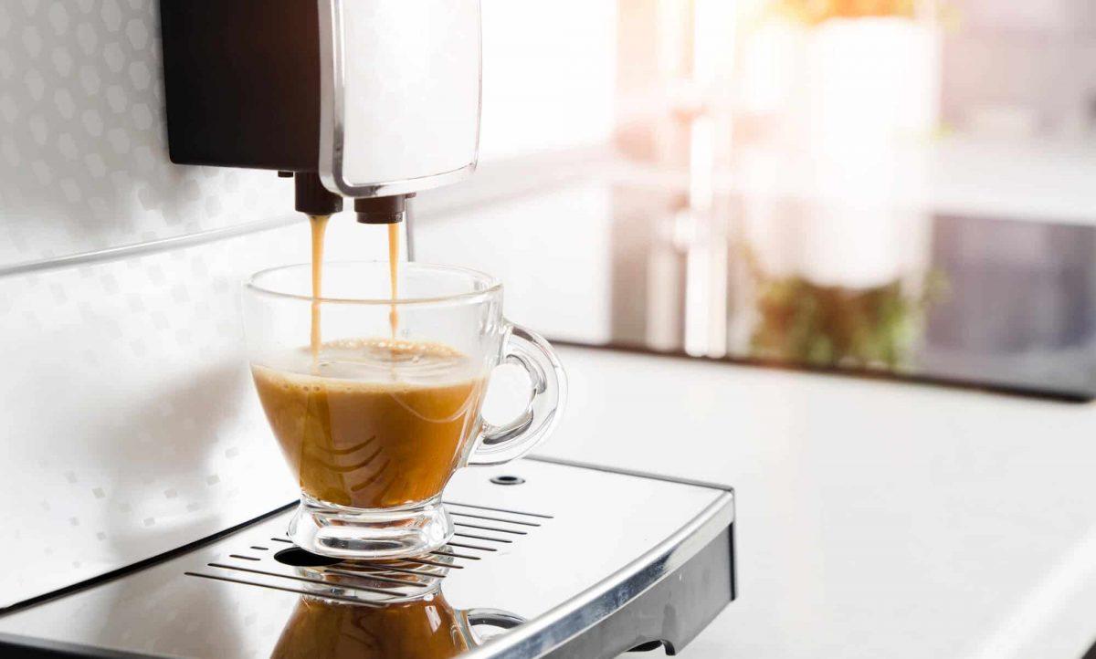 Super Automatic Espresso Machine in action