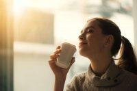 Coffee in the morning boost energy