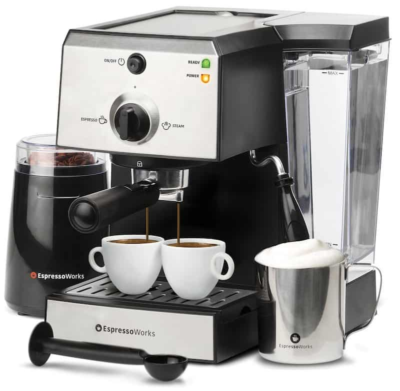 7 Pc All-In-One Espresso & Cappuccino Maker