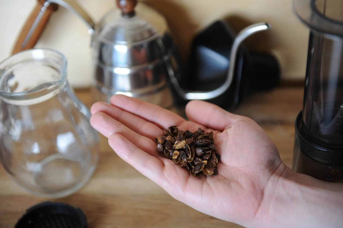 Dried cascara