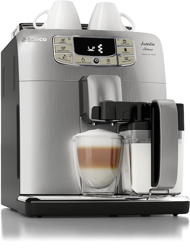 Saeco Intelia Cappuccino Deluxe Automatic Espresso Machine, Stainless Steel, HD8771:93