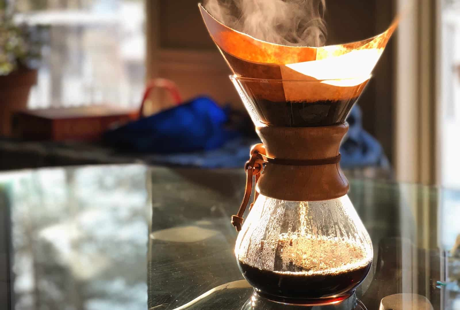 chemex coffee maker sunlight