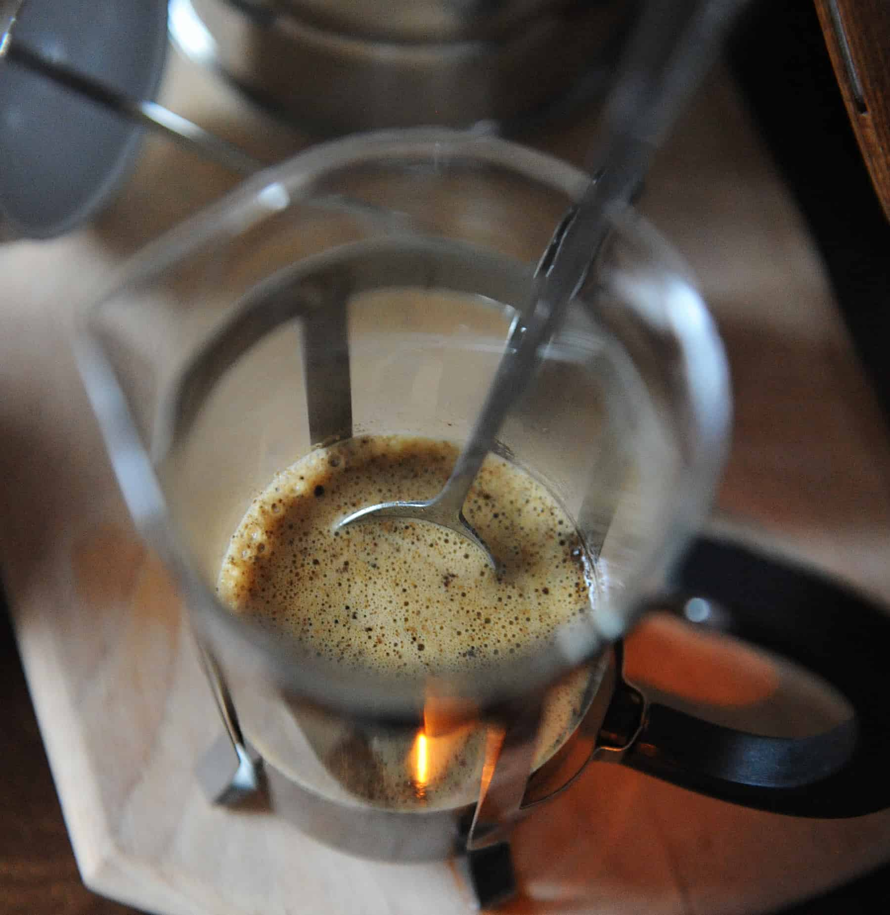 breaking the crust in a french press