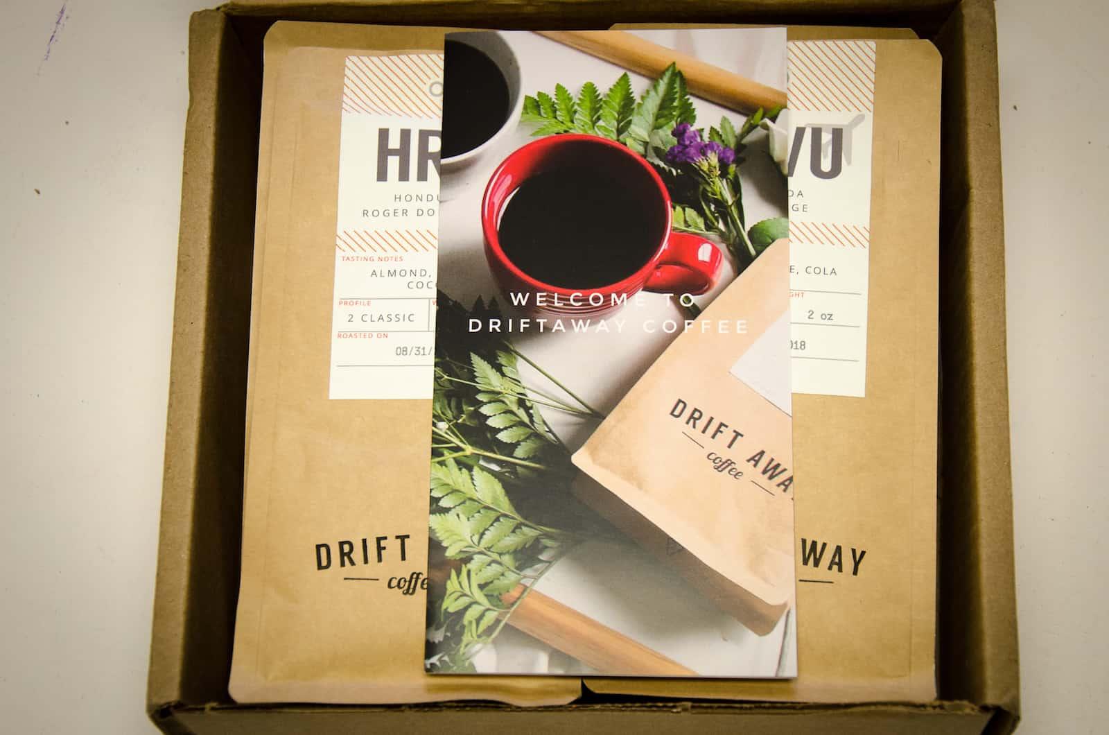 Unboxing Driftaway Coffee