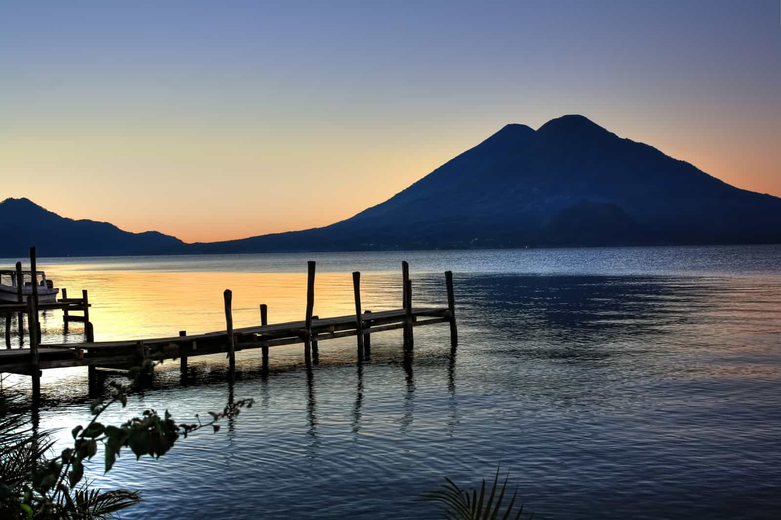 Atitlan lake in guatemala