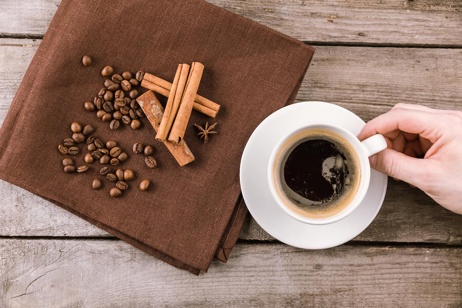 Cinnamon in coffee
