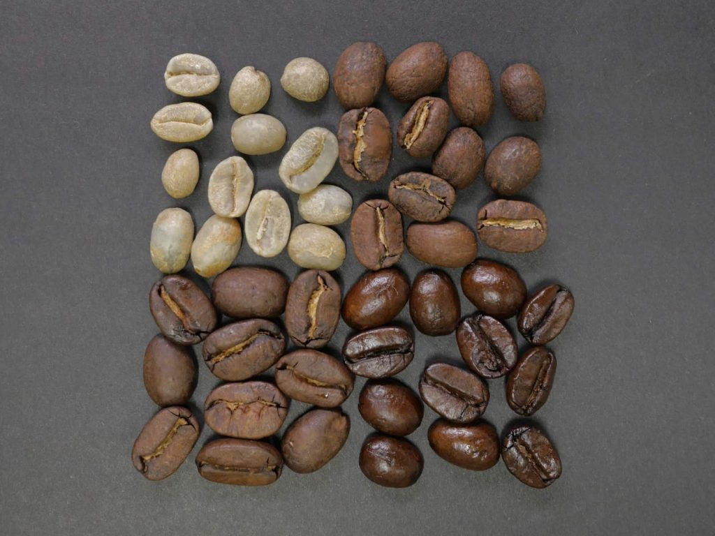 دانه های قهوه بو داده