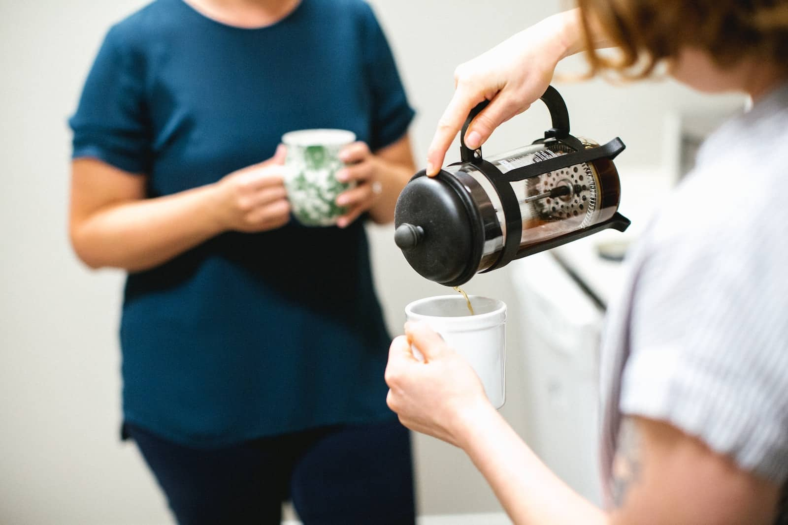 serving french press coffee