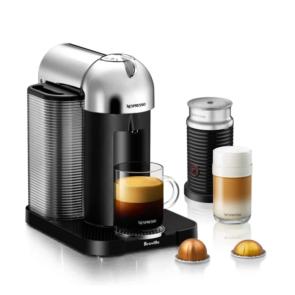 nespresso vertuoline coffee maker with vertuoline pods and accessories