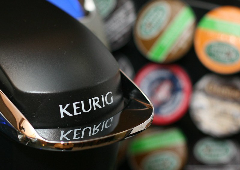 keurig with k cup backdrop