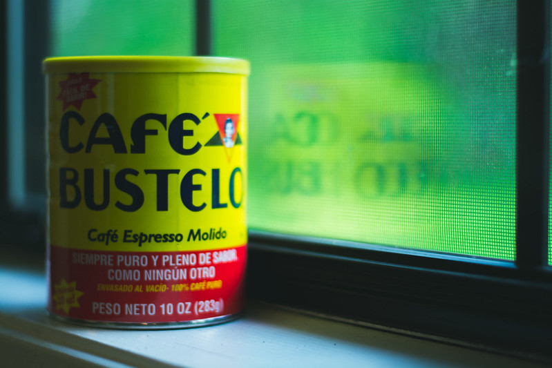 cafe bustelo by window