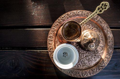 copper turkish coffee set